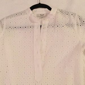 Madewell tunic popover in daisy lace.
